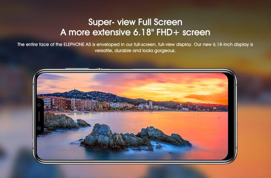 Elephone A5, pantalla