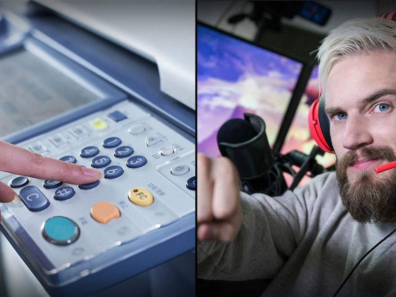 Hackers piratean miles de impresoras e instan a suscribirse a Pewdiepie