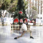 Huawei y Javier Fernández inauguran una pista de hielo Madrid