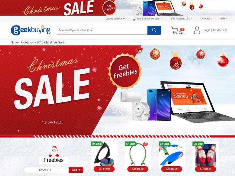 Promoción de Navidad de Geekbuying