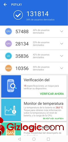 Huawei P Smart 2019 Antutu