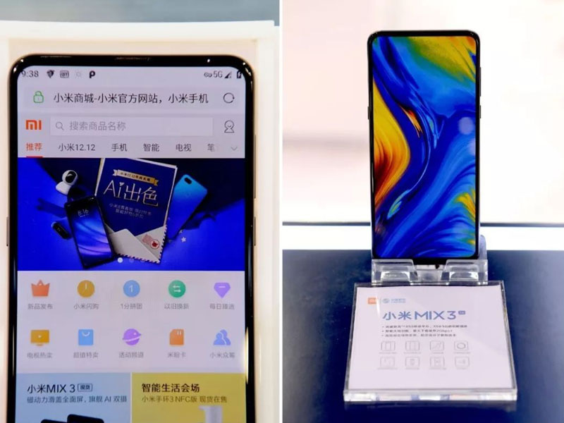 Xiaomi exhibe al Mi MIX 3 operando en la red 5G