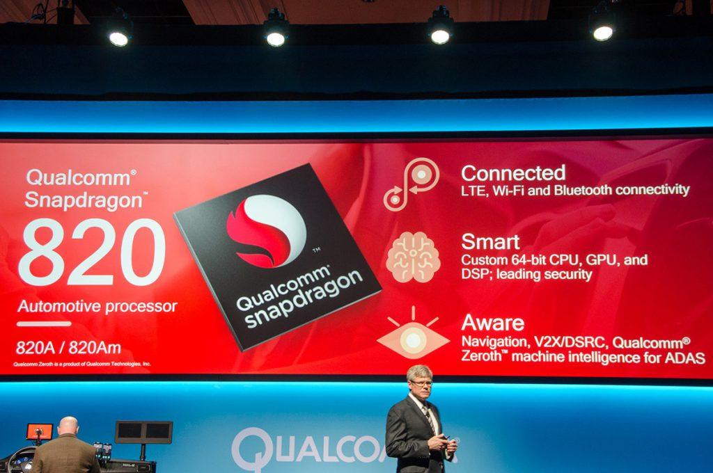 Qualcomm renueva la plataforma Snapdragon 820a para automóviles con inteligencia artificial