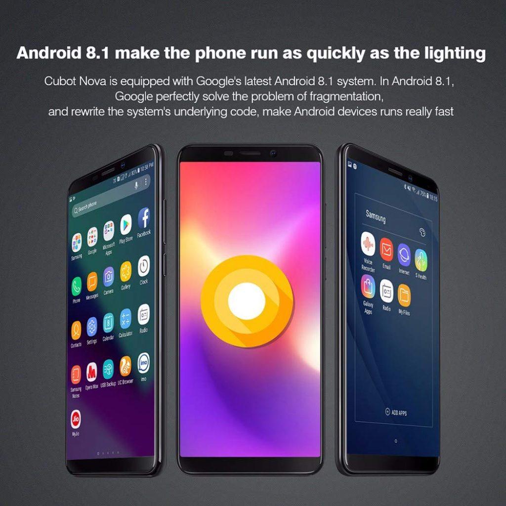 Cubot Nova, Android