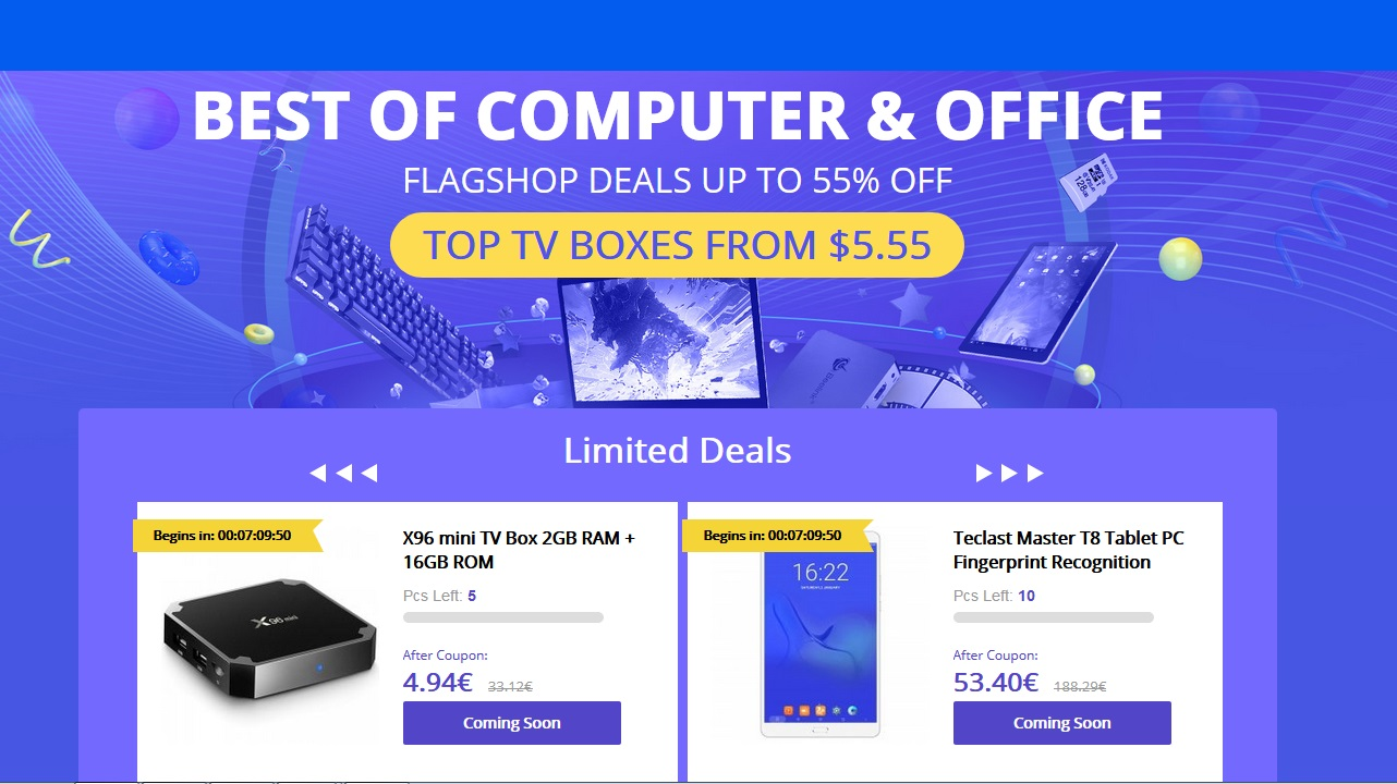 Promo PC y Tablets Gearbest