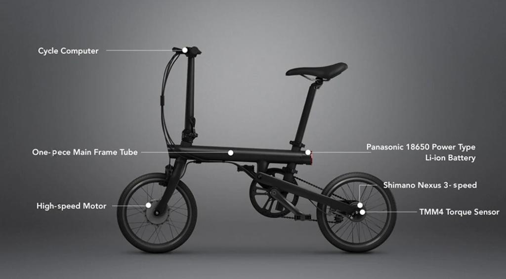QICYCLE TDR01Z, partes de la bicicleta