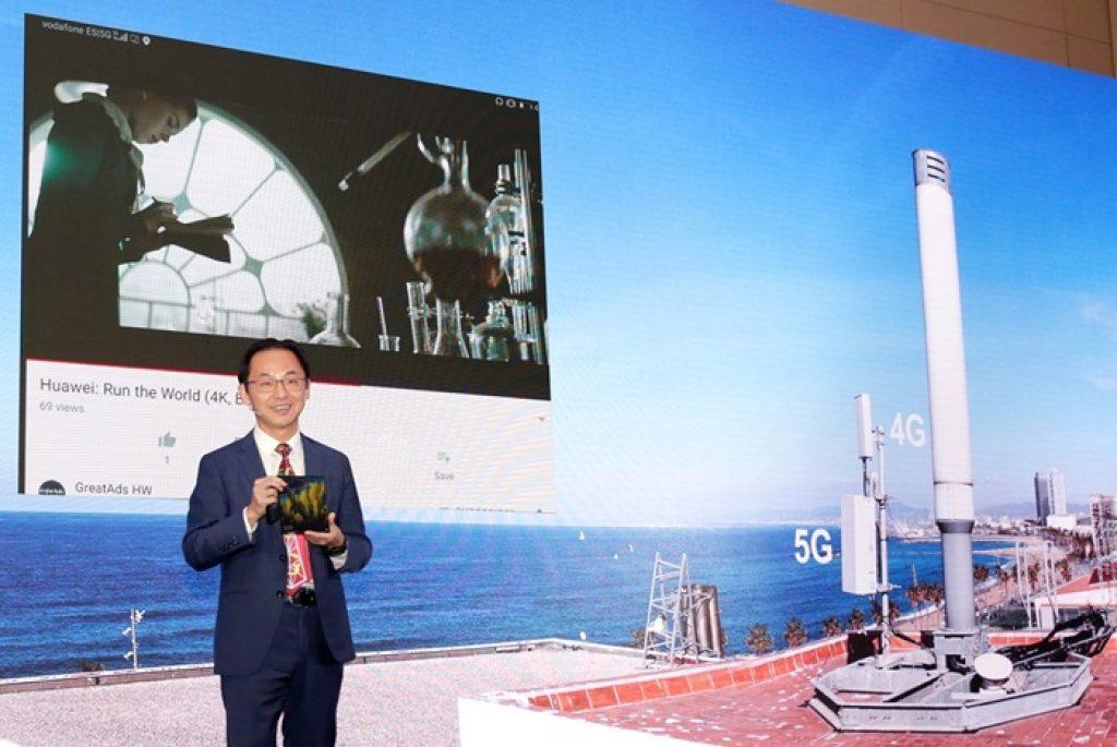 Ryan Ding - director del Consejo Ejecutivo de Huawei y presidente de la Unidad de Negocio de Operadores de la compañía - MWC 2019