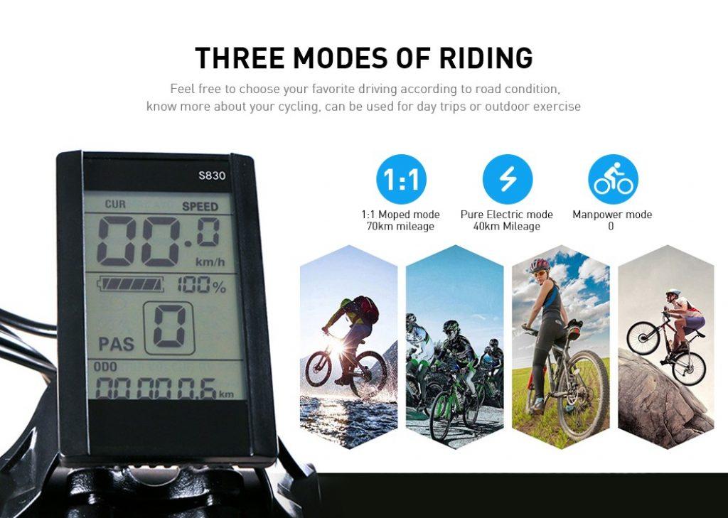 Samebike LO26, modos de uso