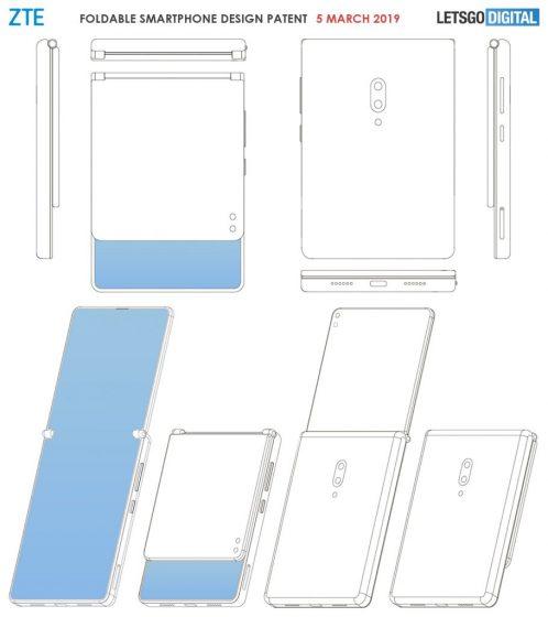 ZTE móvil plegable - patentes