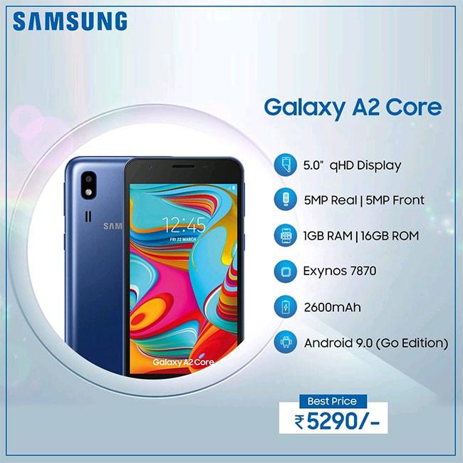 Características del Samsung Galaxy A2 Core
