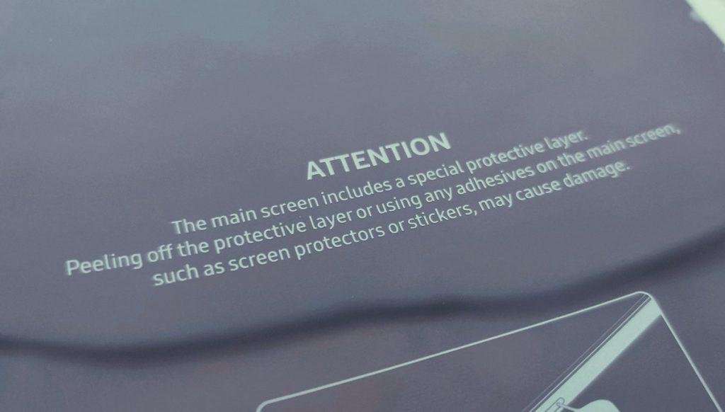 Galaxy Fold - Capa protectora