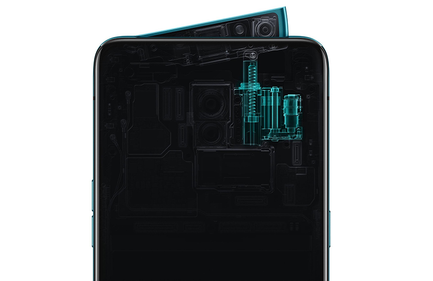 Oppo Reno - cámara emergente angular