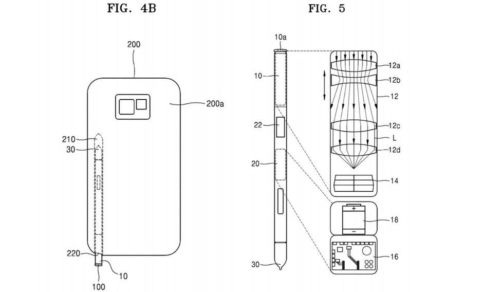 Patente del S Pen para el Galaxy Note 10