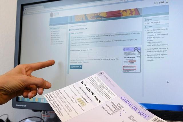 Sistema de voto electrónico suizo