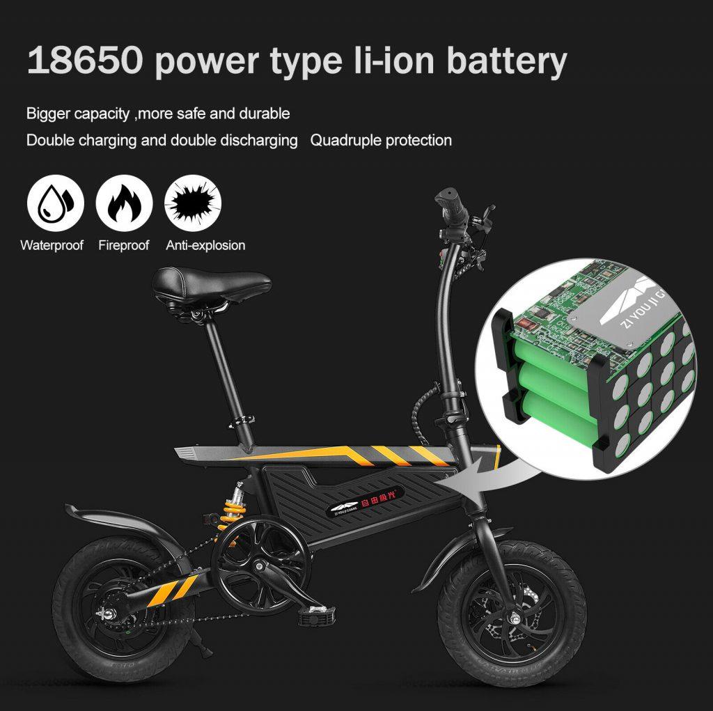 Ziyoujiguang T18, batería