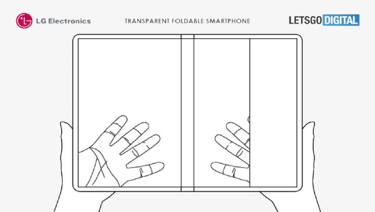 smartphone plegable transparente de lg