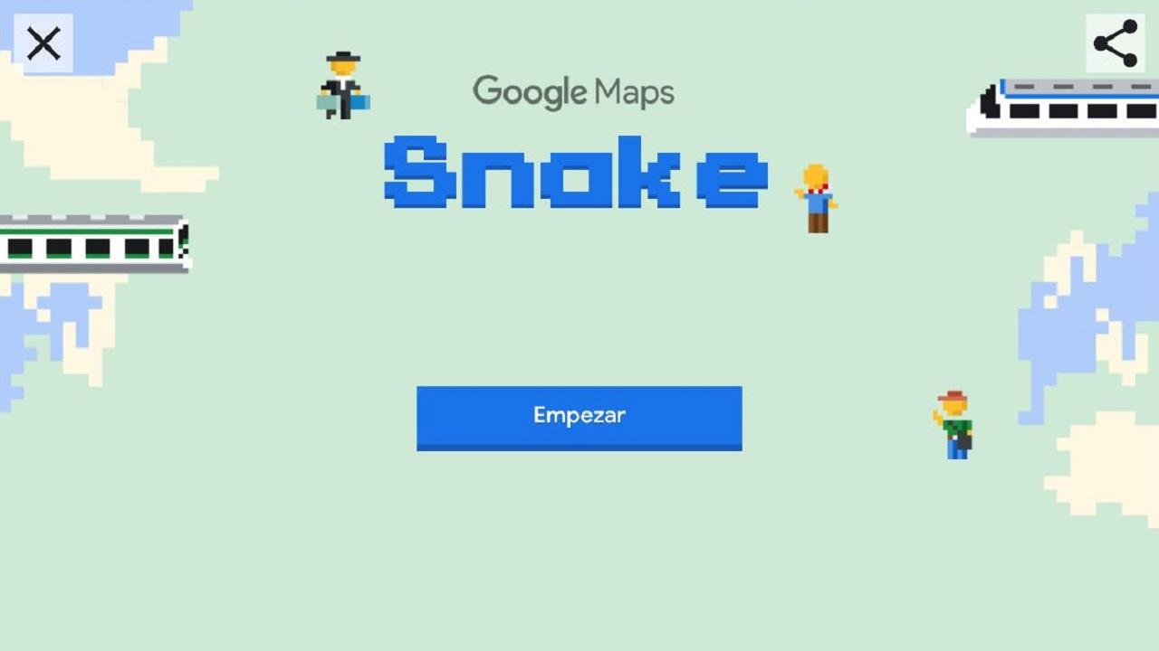 snake en google maps