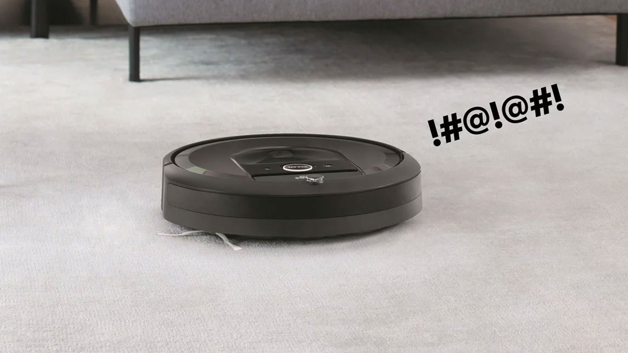 Esta aspiradora Roomba grita de dolor cada vez que se tropieza
