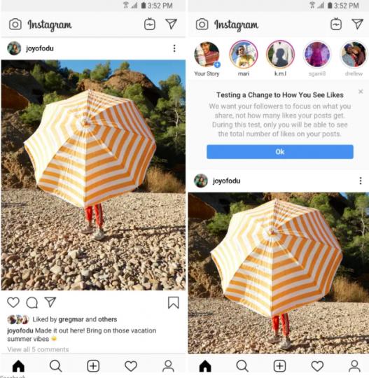 Instagram esconderá el conteo de Me Gusta