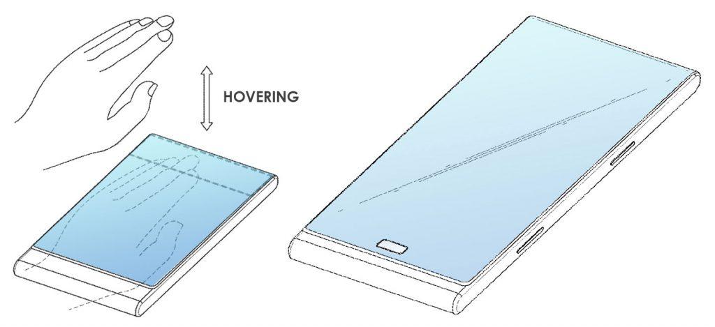 Smartphone con pantalla envolvente de Samsung - Hovering