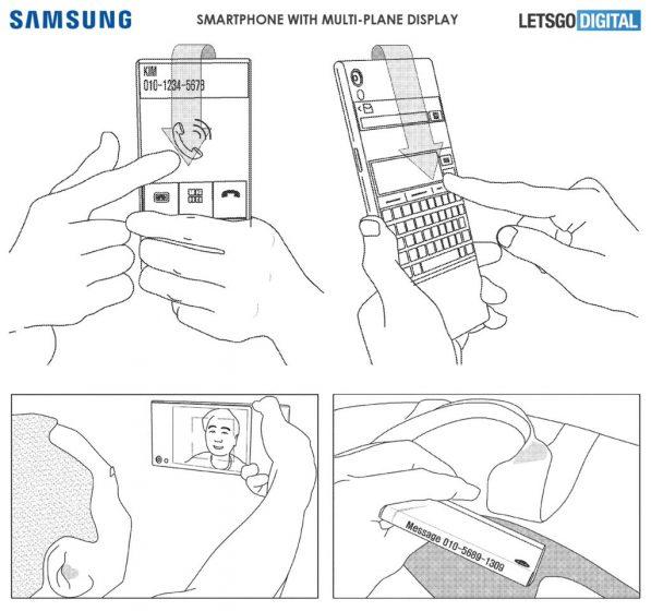 Smartphone con pantalla envolvente de Samsung - Multi Panel