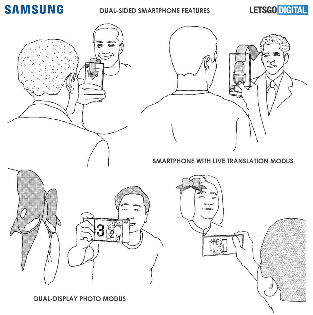 Smartphone con pantalla envolvente de Samsung - Traducción en tiempo real