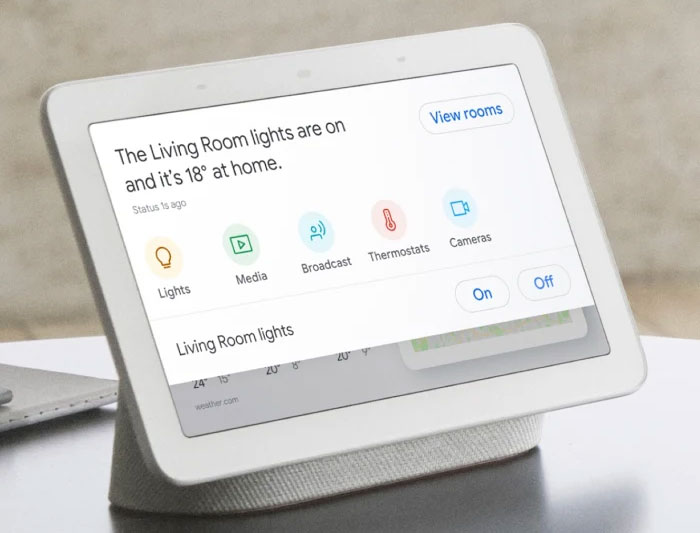 Google Nest Hub - Pantalla