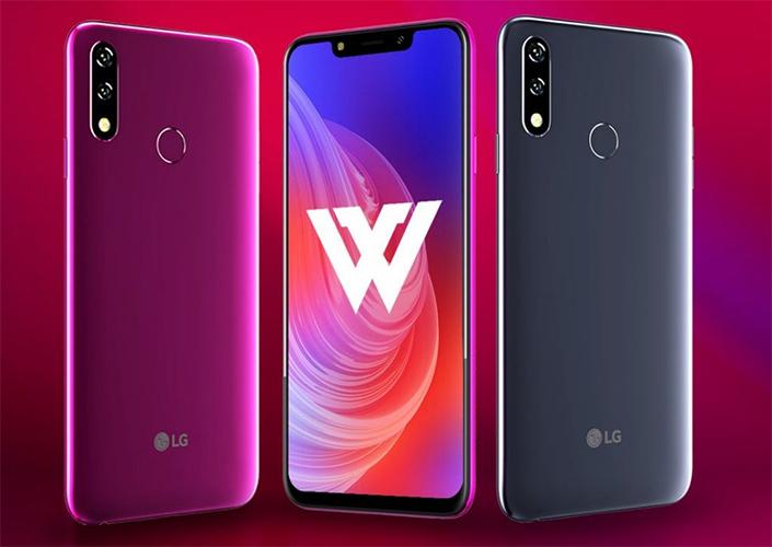 LG W10 Diseño y pantalla