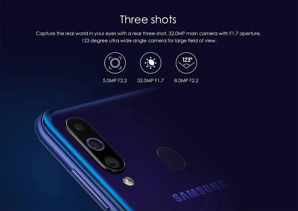 Samsung Galaxy A60, cámaras