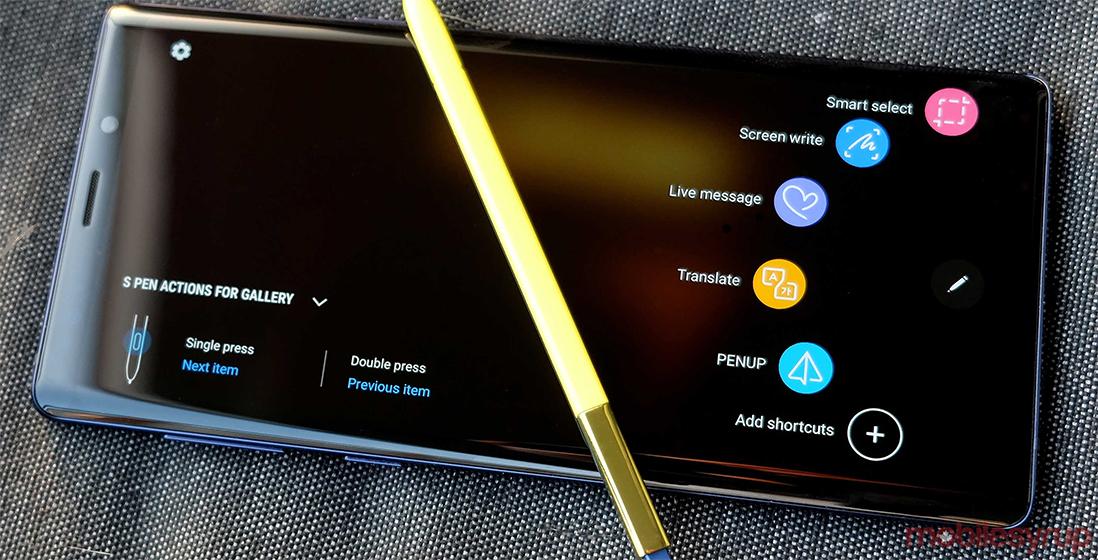 Samsung Galaxy Note 9 - Opciones de la cámara