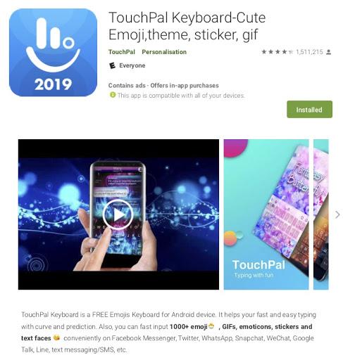 TouchPal - BeiTaAd