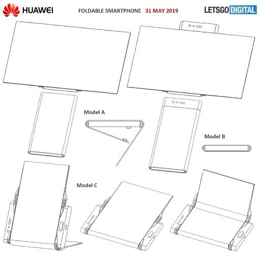 patente smartphone plegable de huawei