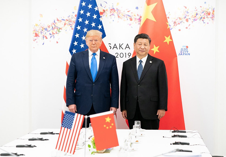 Donald Trump y Xi Jinping durante la cumbre del G20 en Osaka, Japón