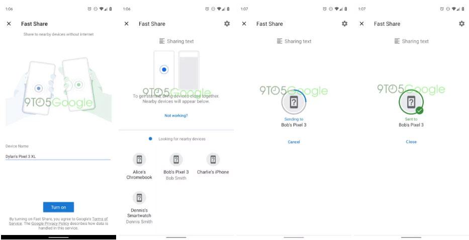 Google Fast Share - Enviar archivos