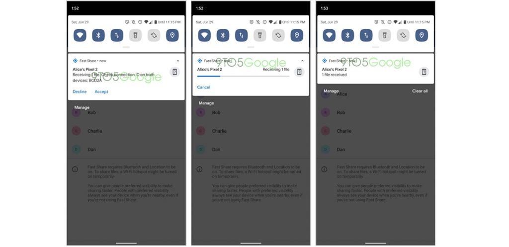 Google Fast Share - Recibir archivos