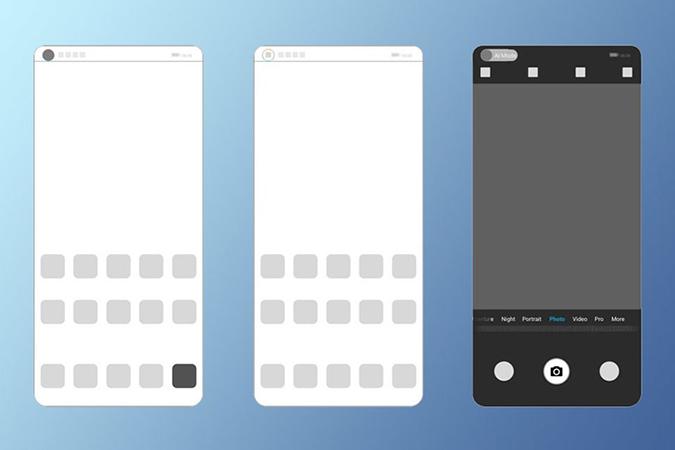 Huawei patenta una pantalla móvil con cámara integrada