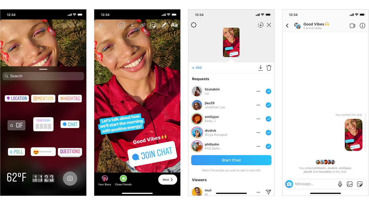 Instagram lanza nuevo stickers de chat grupal para las Stories