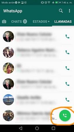 Llamadas grupales WhatsApp
