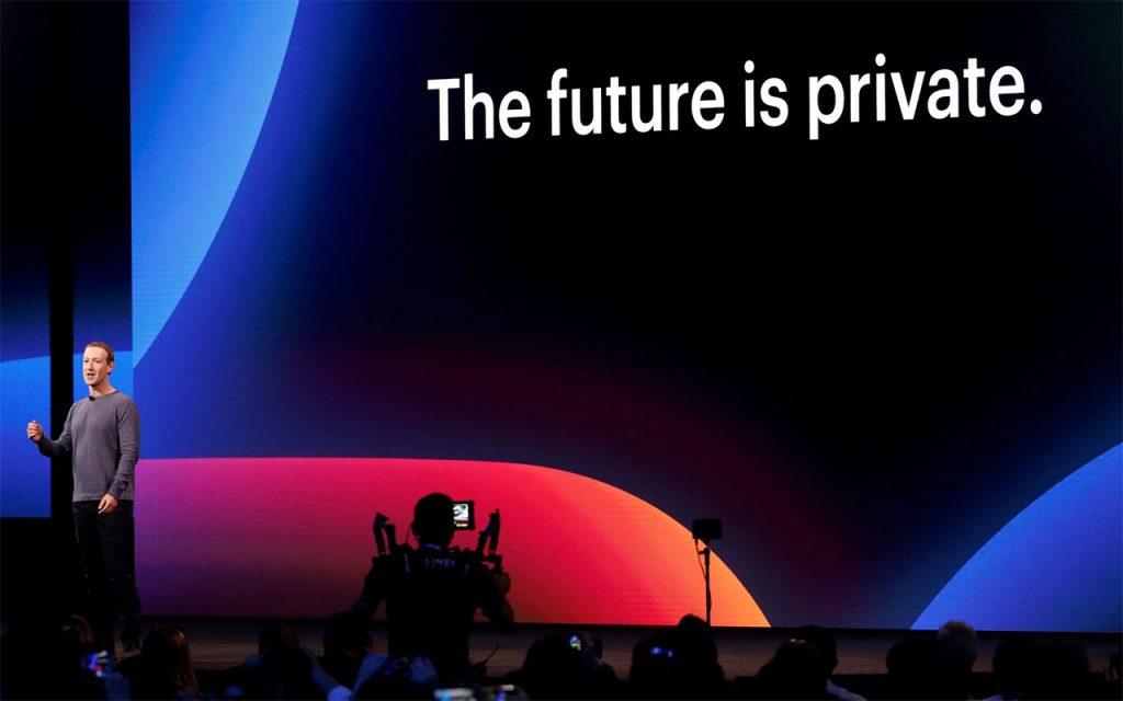 Mark Zuckerberg durante el Facebook F8 2019