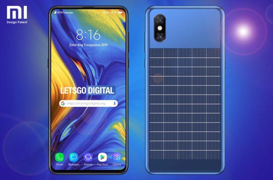 Smartphone Xiaomi con panel solar incorporado