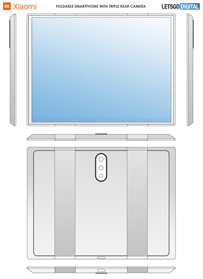 Smartphone plegable de Xiaomi - Bocetos