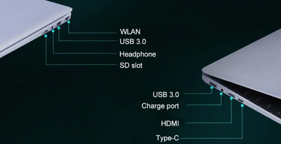 AIWO I8 Plus, puertos