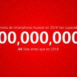 Huawei supera los 200 millones de móviles vendidos en tiempo récord