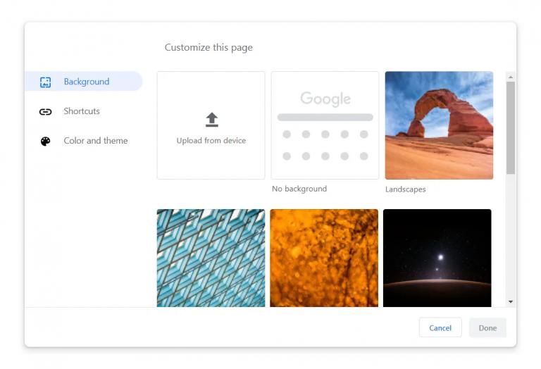 Personalizar nueva pestaña de Google Chrome
