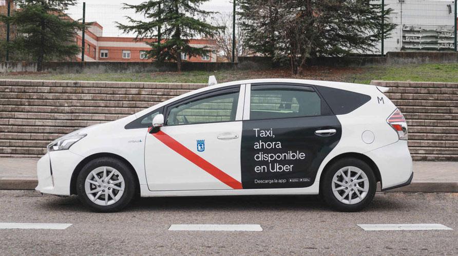 Uber ahora incorpora taxis en Madrid