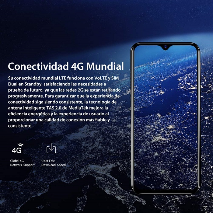 Blackview A60 Pro, conectividad
