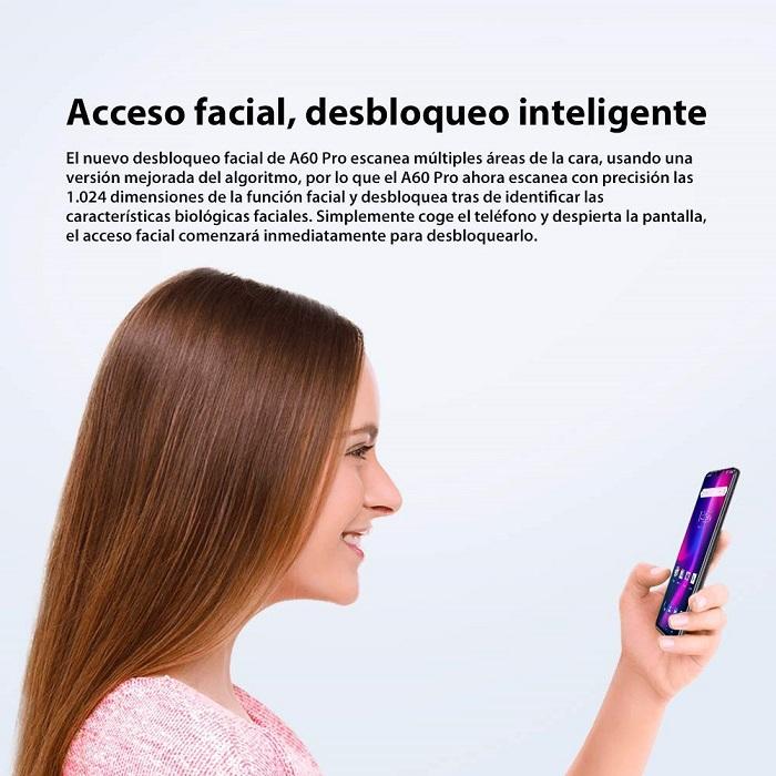 Blackview A60 Pro, desbloqueo facial