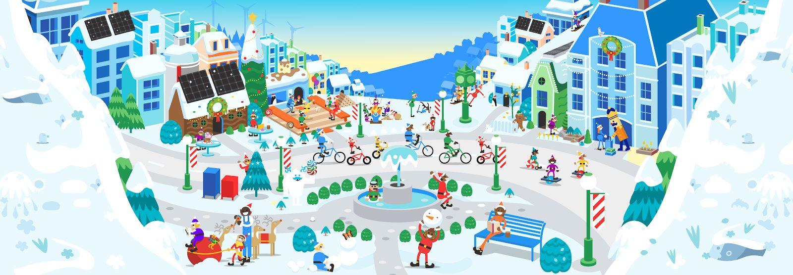 En vivo desde el Polo Norte - En la aldea de Papá Noel