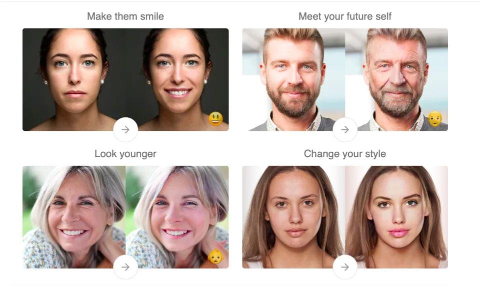 FaceApp - funciones
