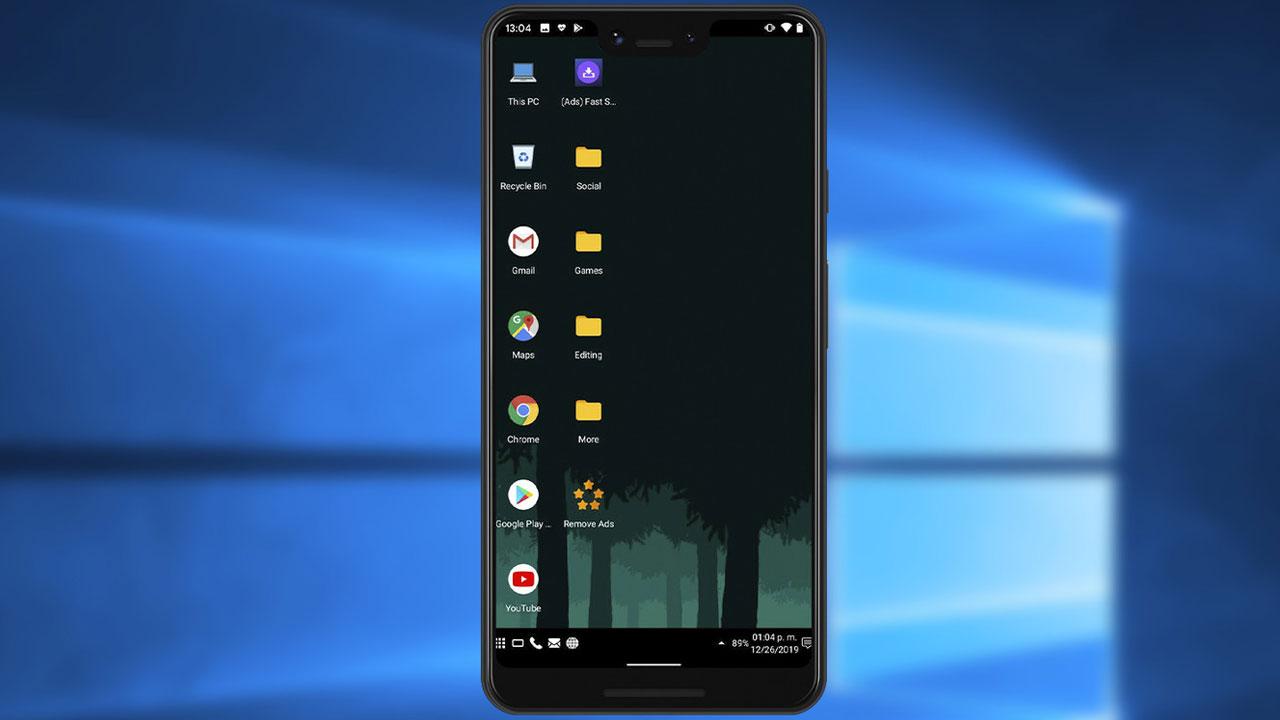 FeelUI, el Launcher que convierte tu móvil en PC con Windows 10